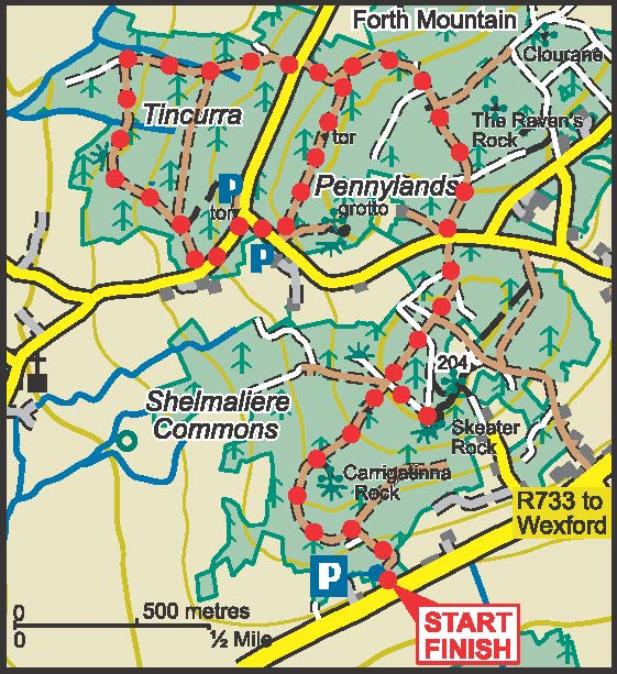 Forth Mountain Red Trail Map