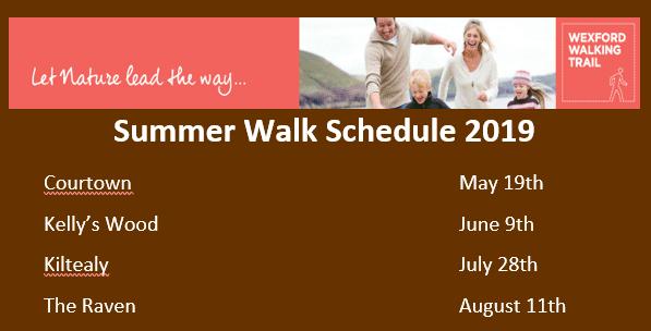 Summer Walk Schedule 2019