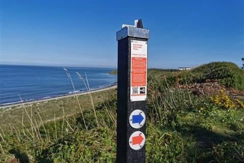 Interactive Signpost at Morans Bay Rosslare